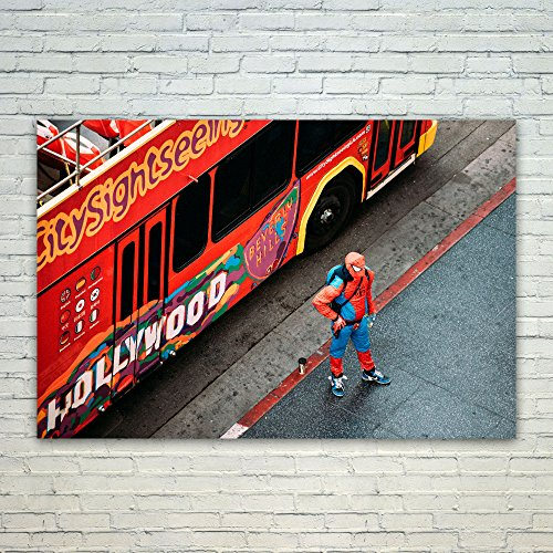 Westlake Art Bus Costume - Poster Print Wall Art - By Modern Picture Photography Home Decor Office Birthday Gift - Unframed 12x18 Inch (New Spiderman Costume Images)
