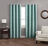 Avondale Manor Damask Panel Pair Curtains, Spa Blue