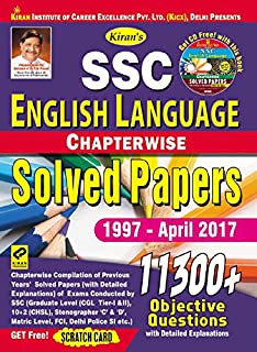 Kirans Ssc English Language Chapterwise Solved Papers 11300 Objective Questions English 1997