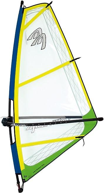 Ascan Pro Rigg Kinder-Jugend-Damen Windsurfsegel komplett Segel+Mast+Gabel Rot
