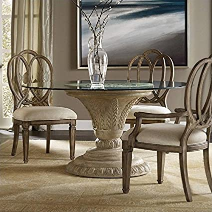 Amazoncom Hooker Furniture Solana Round 60 Glass Top Dining