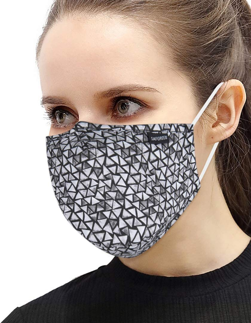 Washable Reusable Cotton Mouth Half Face Mouth For with Adjustable Ear Loops