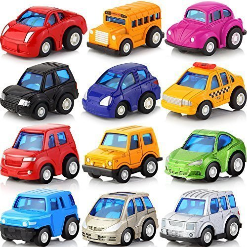 LYhopes 12pcs/lot Mini Pull Back Car Toy Alloy Diecast Brinquedo Metal Model Vehicle Toys For Boys Girls Children Christmas,Gift