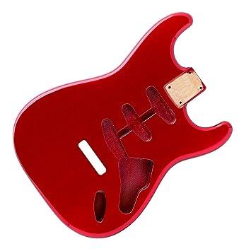 Candy Apple rojo Stratocaster Guitarra eléctrica cuerpo - 2 piezas ...