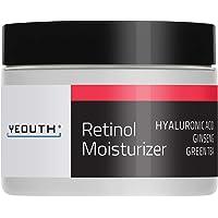 YEOUTH Retinol Cream Hidratante 2.5% para Rostro con Ácido Hialurónico (1 ounce)