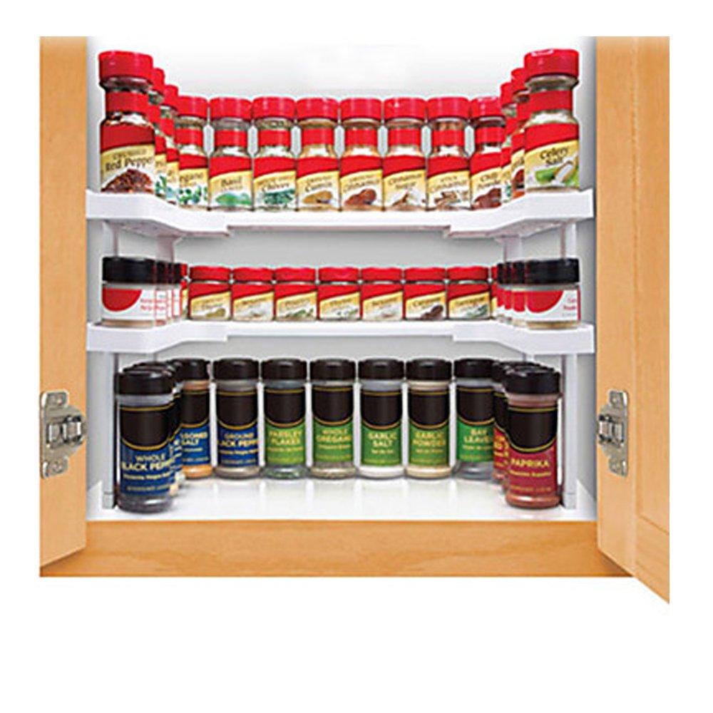 Espandibile portaspezie e mobiletto organizer, Sbolang 64espandibile portaspezie e armadietto organizer Spice Jar rack Stackable organizer