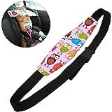 Soporte de Cabeza del Cochecito para Bebé Niños, Arnés Cinturón Ajustable de Seguridad Fijación Protección de Cabeza Posicionador de Asientos del Sueño,A