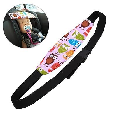 Soporte de Cabeza del Cochecito para Bebé Niños, Arnés Cinturón Ajustable de Seguridad Fijación Protección