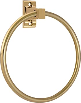 Design House 533349 Millbridge Bath Accessories Towel Ring Polished Brass