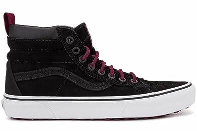 79ca0f4801c338 Vans Mens SK8-Hi MTE Black Beet Red Sneaker - 8.5