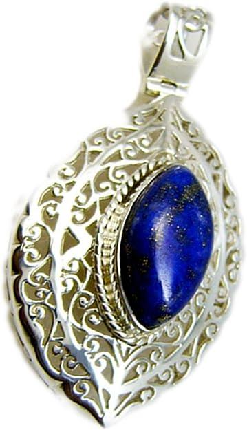 Marquise  LAPIS LAZULI Sterling Silver 925 Gemstone Pendant Grade /'A/'