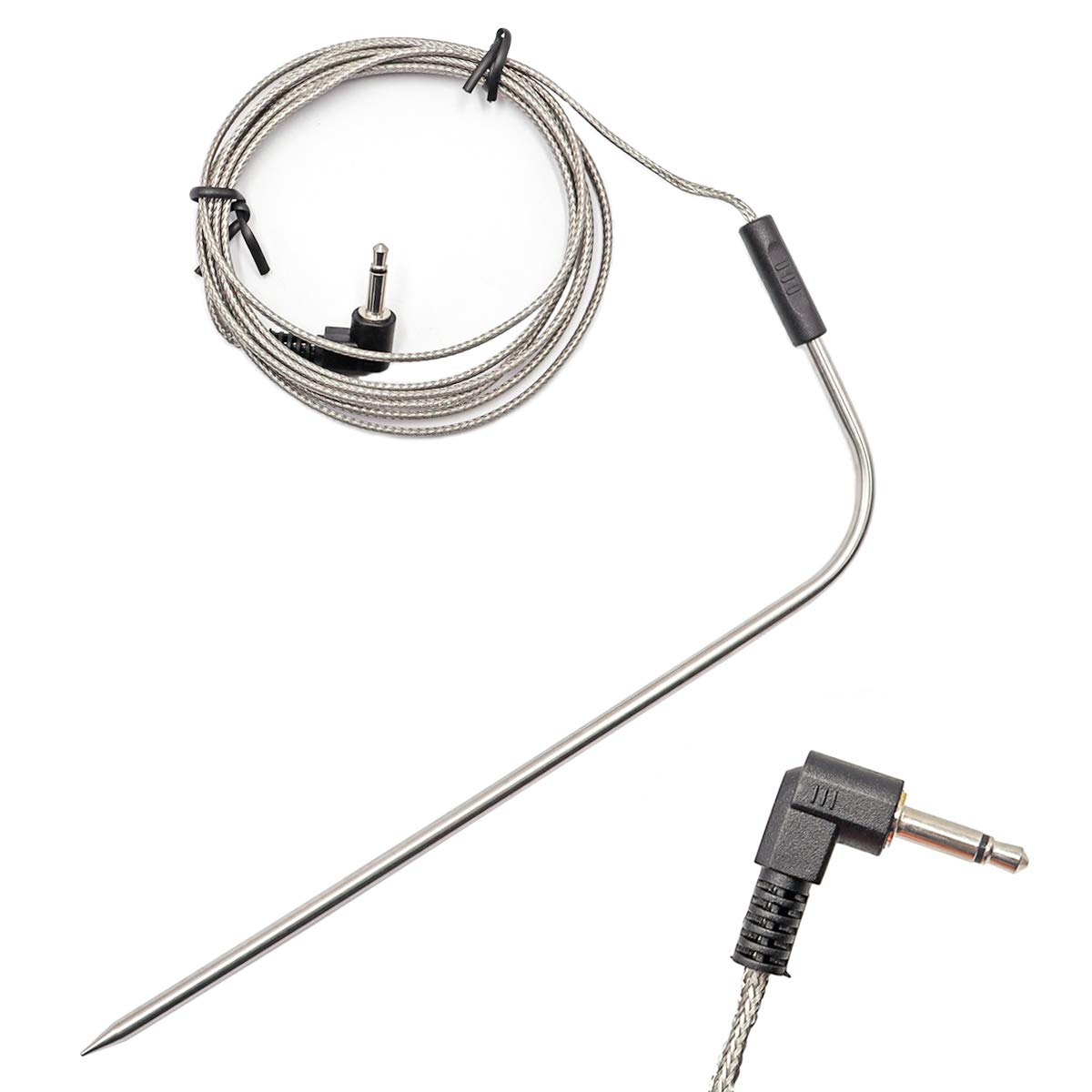smseace 0.13in(3.5mm) Plug Waterproof BBQ Meat Thermometer Probe Replacement . Compatible with Traeger BBQ Grills. TZ-3.5-185-2