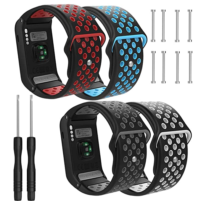 e62ee2ff8 Amazon.com: for Garmin Vivoactive HR Band-Budesi Soft Silicone Replacement  Watch Bands for Garmin Vivoactive HR GPS Sports Smart Watch (4 Pack-1):  Cell ...