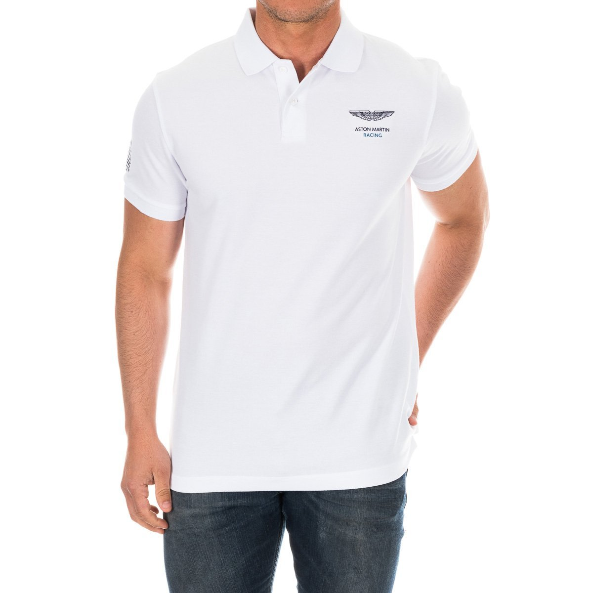 Hackett London AMR BK DBL STR Polo, Blanco (White 800), S para ...