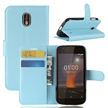 huge discount ce708 5e16e Nokia 1 Flip Case,Zire PU Leather Flip Cover Material: Amazon.co.uk ...