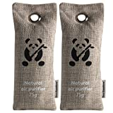 Air Purifiers by ZooBamboo (2 x 75g)   Bamboo Charcoal Shoe Deodorizer Car Refreshener Home Odor Eliminator Mold Remover Moisture Eliminator and Dehumidifier for Allergies Smoke Smell and Pet Odor
