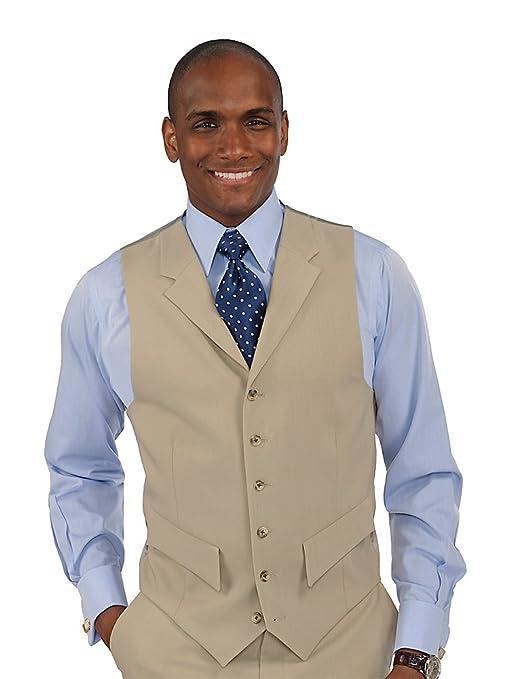 1920s Style Mens Vests Paul Fredrick Mens 100% Wool Six-Button Notch Lapel Suit Separate Vest $69.95 AT vintagedancer.com
