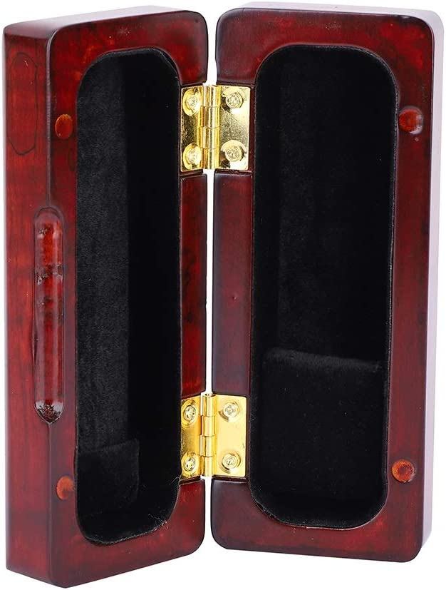 Rockyin Magnet Solid Wood Alto Sax Saxophone Mouthpiece Case Box Accessory Red