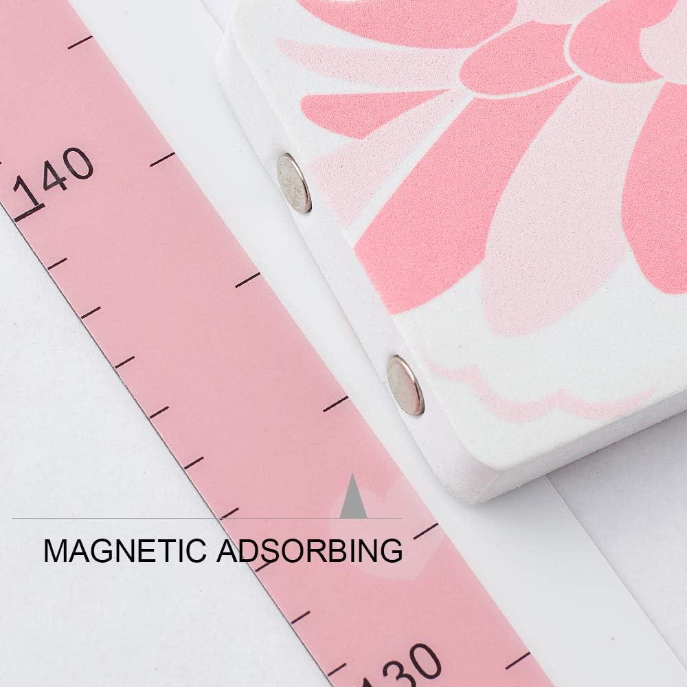 Wopeite Righello 3D per Controllo Altezza con Testa di cigno rosa per Segnare Altezza Righello Portatile Disegni per Il Muro della Stanza dei Bambini