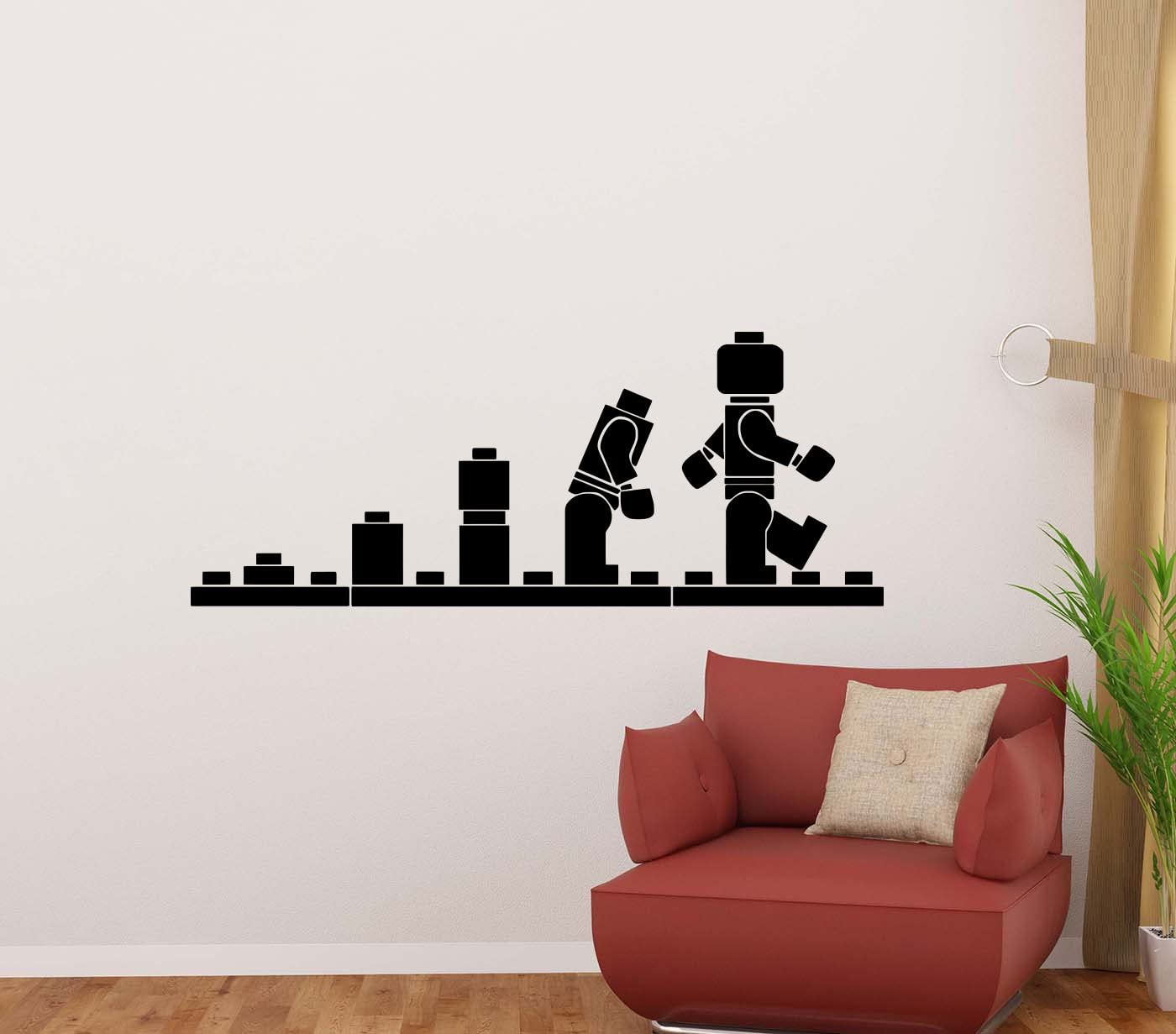Lego Dimensions Kids Boys Wall Stickers Art Mural Decal Removable Decor Gift