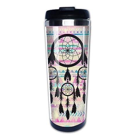 Amazon.com: Lojaon Taza de café con vaso de acero inoxidable ...