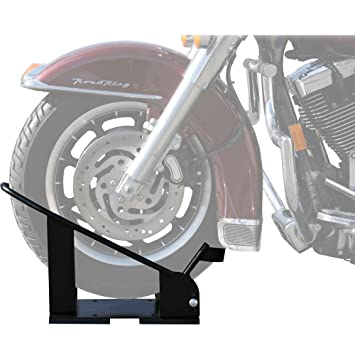 Black Widow BW-CH-DX2 Black Widow Adjustable Motorcycle Chock for 16-21 Wheels