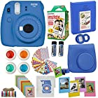 Fujifilm Instax Mini 9 Instant Camera Cobalt BLUE + Fuji Instax Film Twin