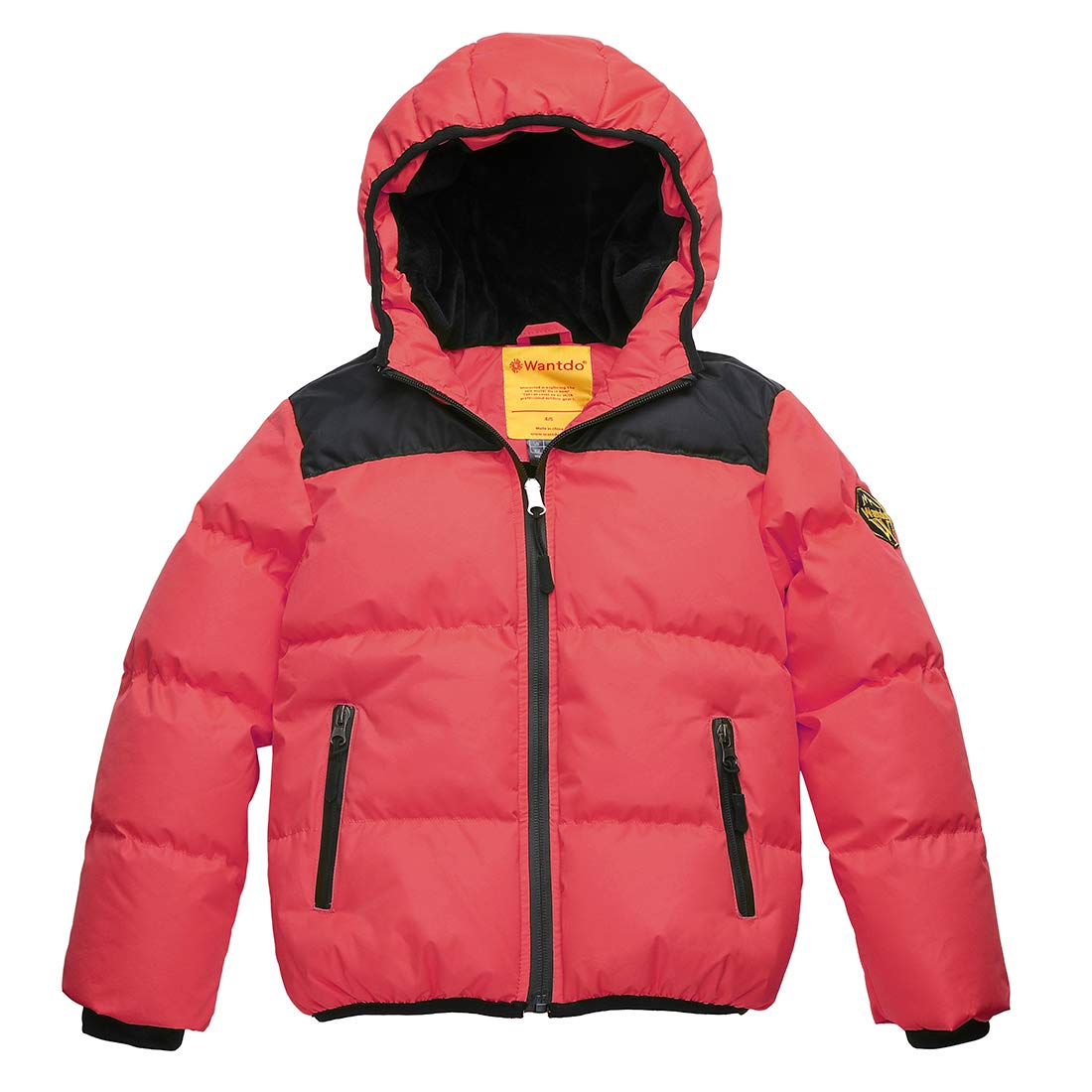 Wantdo Boy's Winter Coat Waterproof Thick Padded Winter Jacket with Hood