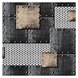 HaokHome 360502 Modern Heavy Texture Loft Wallpaper Iron blue/Bronze/Black/Silver for Home Accent Wall 20.8''x 31ft