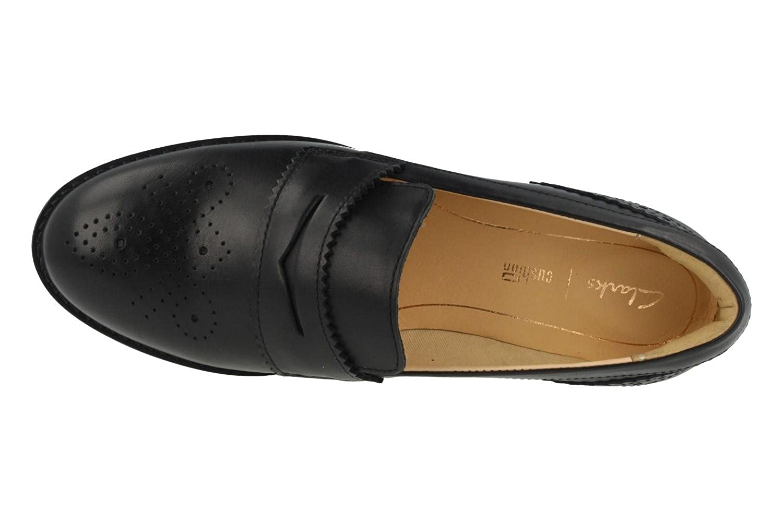 Clarks Damen Modern-Elegant Modern-Elegant Modern-Elegant Netley Lola Leder Halbschuhe Schwarz Größe 37 3832f3
