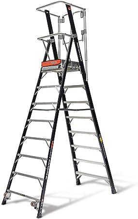 Little Giant escaleras 19608EN plataforma de seguridad jaula escalera, negro, 8 pies: Amazon.es: Bricolaje y herramientas