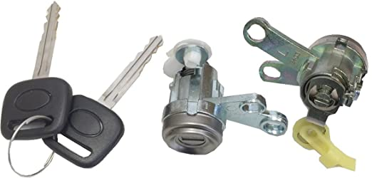 Amazon Com Dl 73 Door Lock Cylinder Set Tumbler With Key L R 92 96 Camry Industrial Scientific