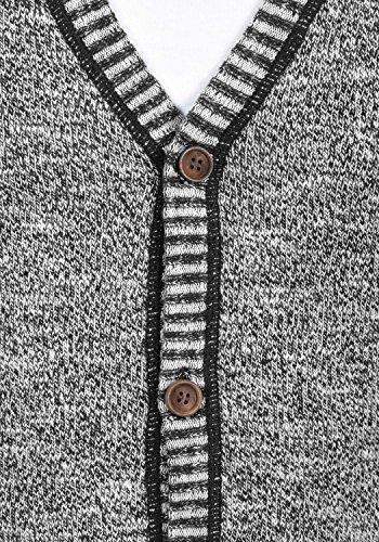 Avec Gilet Encolure Cardigan En Black Pour Thiamin Veste V Homme solid Coton 100 Maille 9000 Fwf8SxTqFC