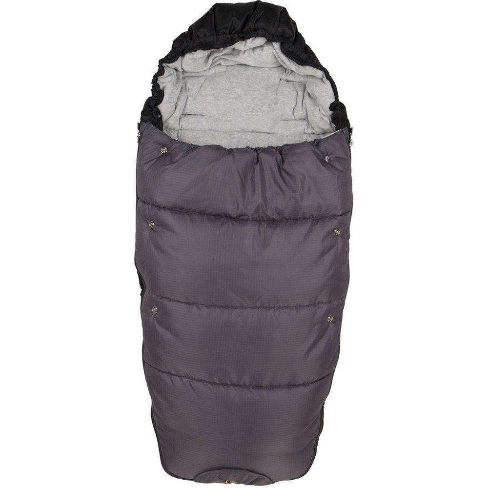 Fillikid 206 Fuß sack Kailash Big - Echtfellauflage, Farbe:grau; Grö ß e:L