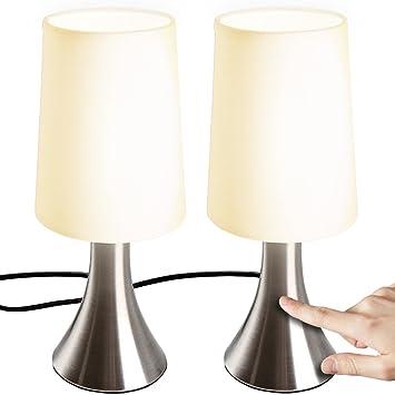 Lampe De Chevet Tactile 3 Intensites E14 Avec Fonction Touch