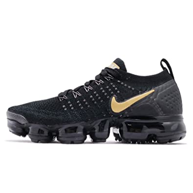 60613cfaca Amazon.com | Nike Women's Air Vapormax Flyknit 2 Running Shoes (9, Black/ Gold) | Shoes