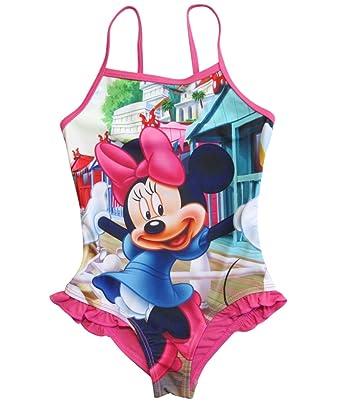 Minnie Mouse - Traje de una Pieza - para niña Fucsia 116 cm ...