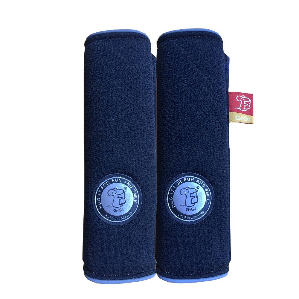 GiGi Memory Foam Auto Car Seat Belt Cover Shoulder Pad Cushion One Pair (Grey)