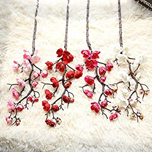 HADIY Artificial Silk Fake Flowers Plum Blossom Floral Wedding Bouquet Party Decor (All) 111
