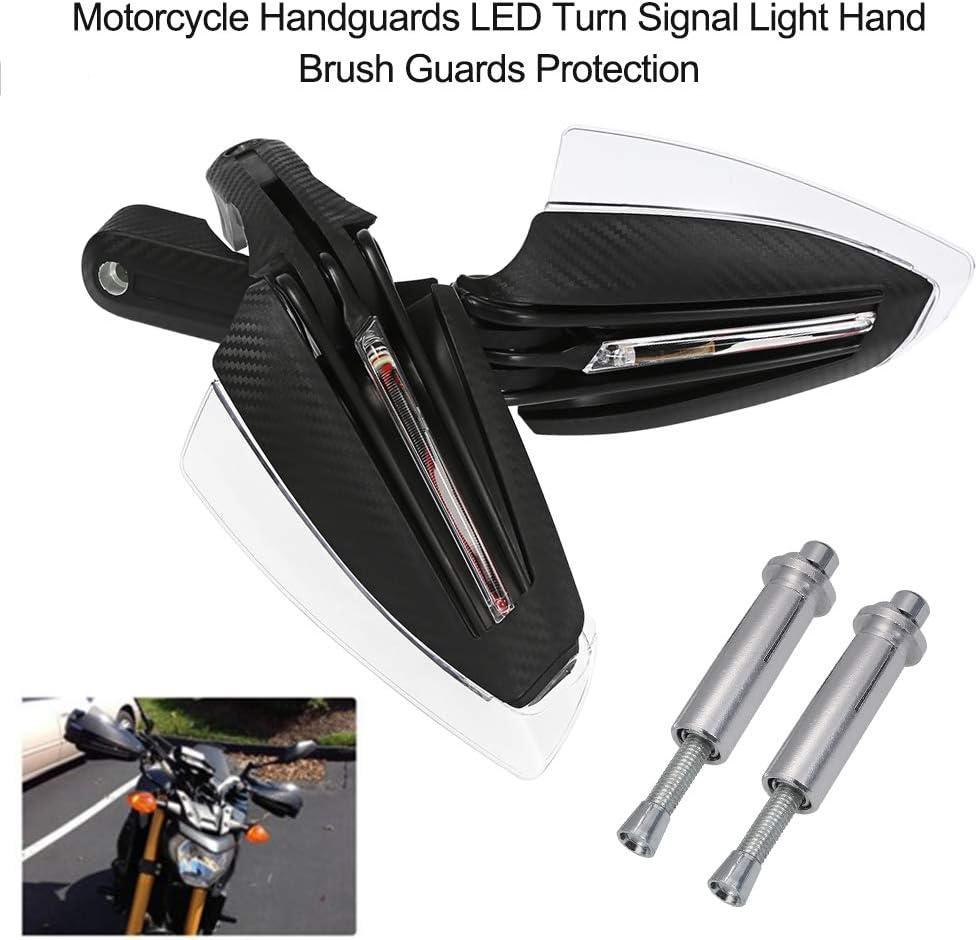 prot/ège-mains cubrepu/ños avec LED lumi/ère de signal de rotation bachette 7//8/22/mm Far Moto Universel kkmoon garde-mains