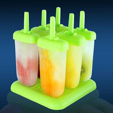 Mystery&Melody Mini molde de helado Molde de barra de silicona Set ...