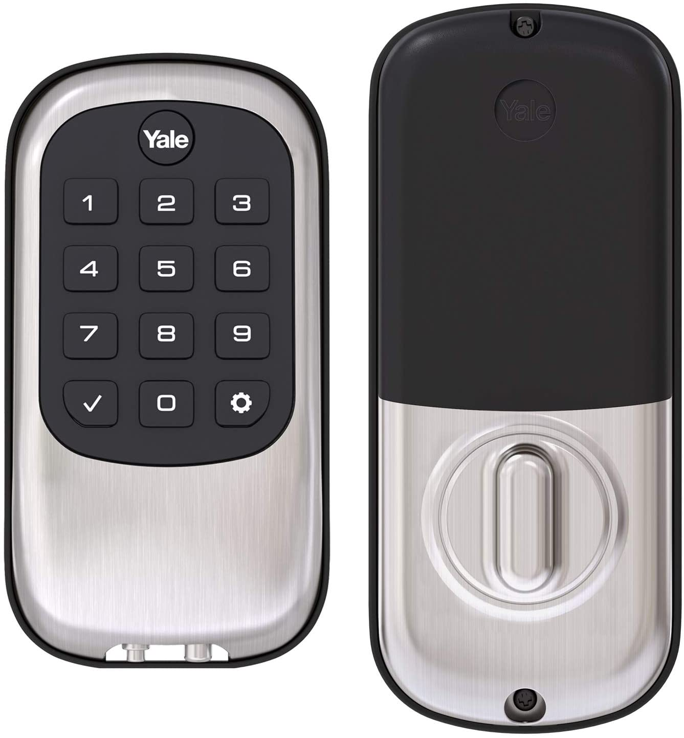 Yale Security Real Living Keyless Push Button Deadbolt With Z-Wave