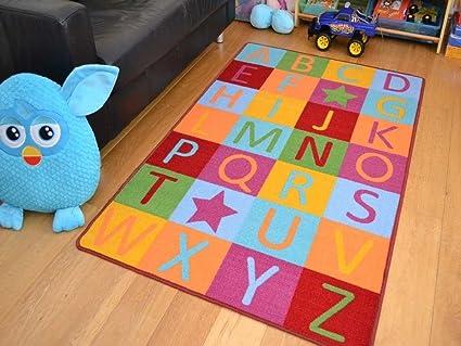 ABC del alfabeto alfombra brillantes alfombra de dormitorio ...