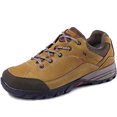 online store 882b9 8a237 CAMEL CROWN Herren/Damen Leder Wanderschuhe wasserdicht Rutschfeste Outdoor  Trail Trekking Schuhe