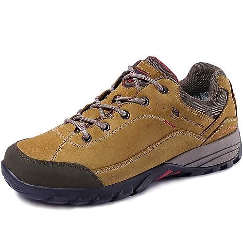 CAMEL CROWN Zapatillas de Camping y Acampada para Mujer & Hombres Zapatos de Senderismo Montaña Calzado