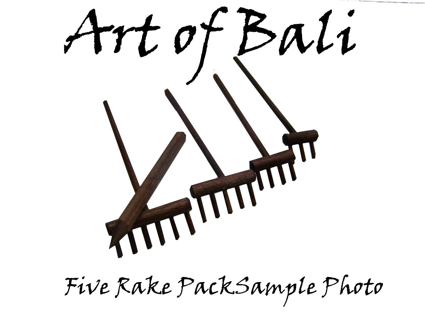 Art of Bali Zen Garden Rake - Art of Bali Zen Garden Rake Five Pack by Art of Bali