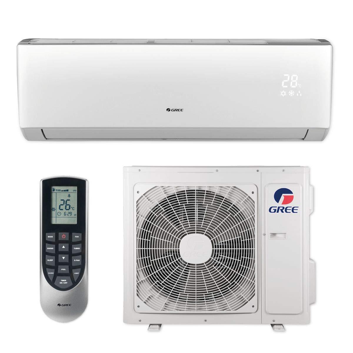 GREE 24,000 BTU 16 SEER LIVO+ Wall Mount Ductless Mini Split Air Conditioner Heat Pump 208/230V