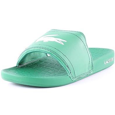 Lacoste Fraisier Slides Mens Fabric Flip Flops Green 8 UK