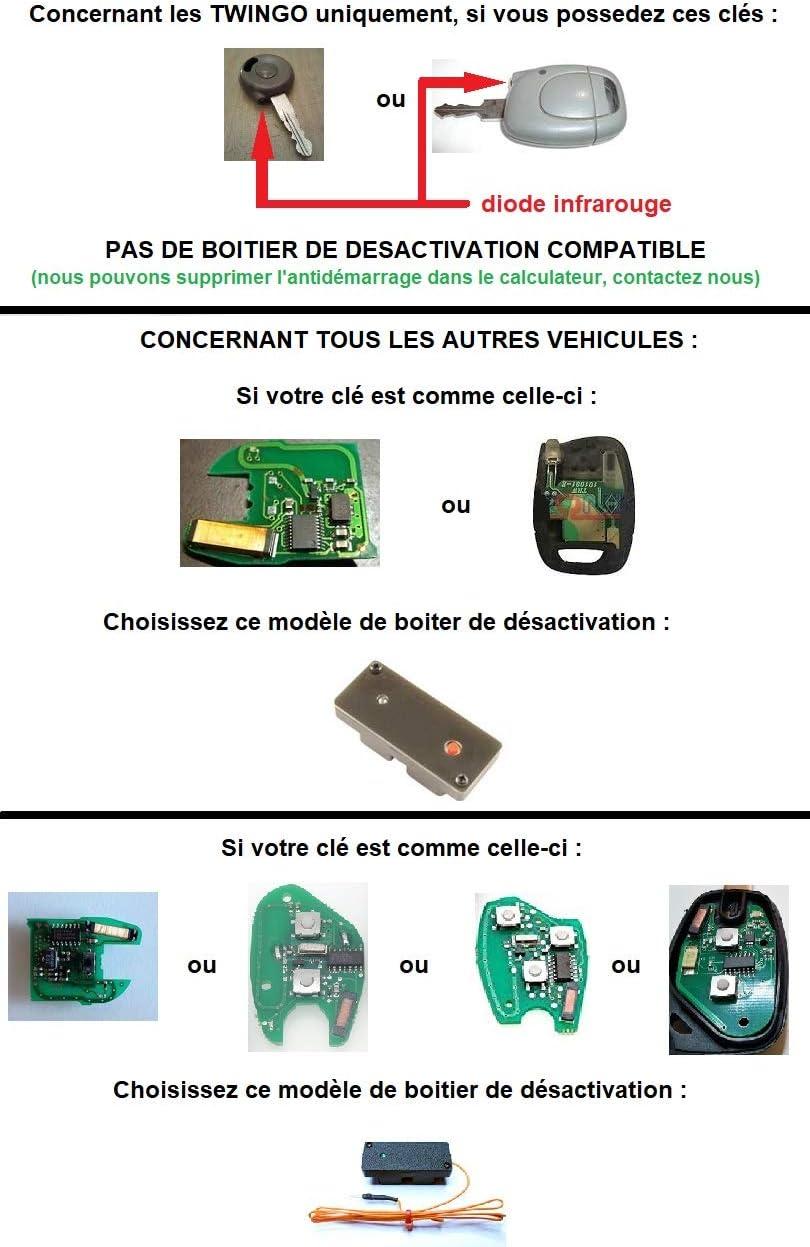 Clé de désactivation d/'anti démarrage Renault MASCOTT PHASE 2