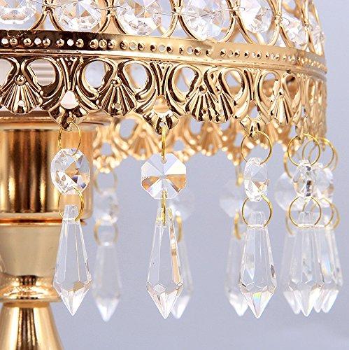 HH Simple Modern Style Bedroom Bedside Luxury Crystal Lamp